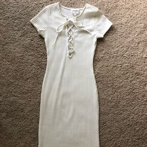 Cotton Candy LA Tie up White dress size Small